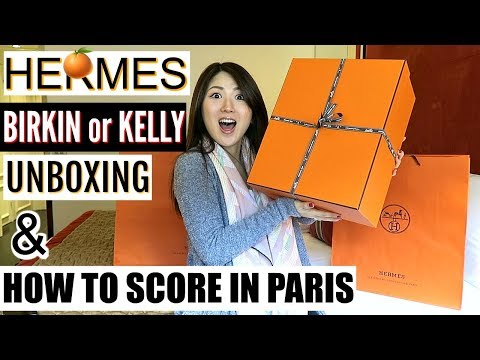 HOW TO SCORE 🍊HERMES BIRKIN OR KELLY IN PARIS | UNBOXING | CHARIS IN PARIS 💕