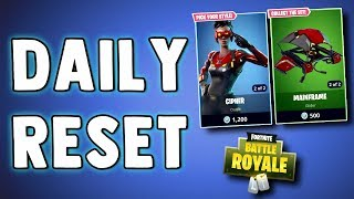 FORTNITE DAILY SKIN RESET - BRAND NEW SKINS!! Fortnite Battle Royale NEW Daily Items in Item Shop