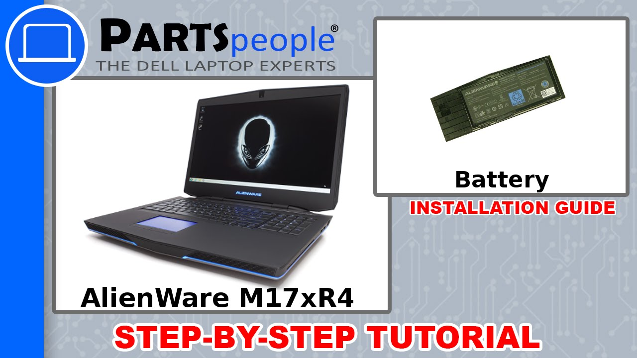 Dell AlienWare M17xR4 Battery Replacement Video Tutorial