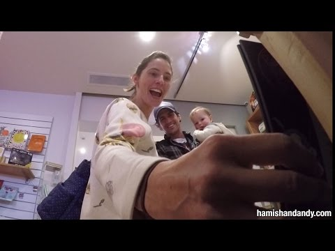 Andy Surprises His Sister (and Nephew)