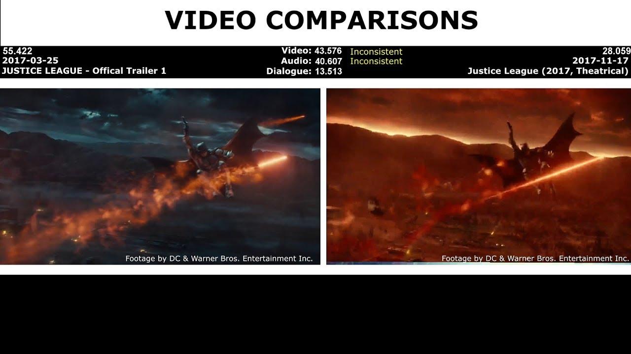 Download VIDEO COMPARISONS - JUSTICE LEAGUE - Official Trailer 1