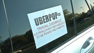 Taxis mobilisés contre UberPop: des perturbations en province
