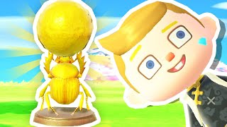 I Crafted the GOLDEN DUNG BEETLE in Animal Crossing!