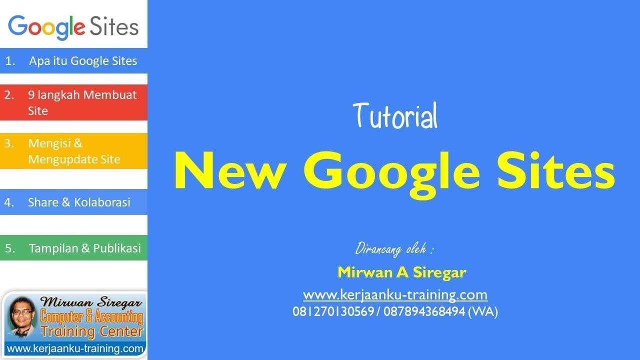 Cara Membuat Website Gratis Dengan New Google Site Youtube