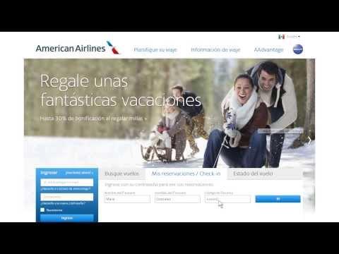 AA.com Online Check-in En Español