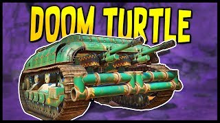 Crossout - DOUBLE CANNON DOOM TURTLE Tank Destroyer! - Let's Play Crossout Gameplay