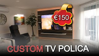 TV POLICA SAMO -18.000 RSD | CUSTOM TV WALL FOR € -150