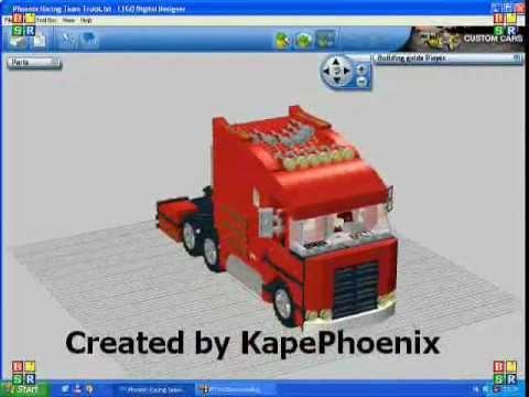 lego digital designer project phoenix formula team truck youtube. Black Bedroom Furniture Sets. Home Design Ideas