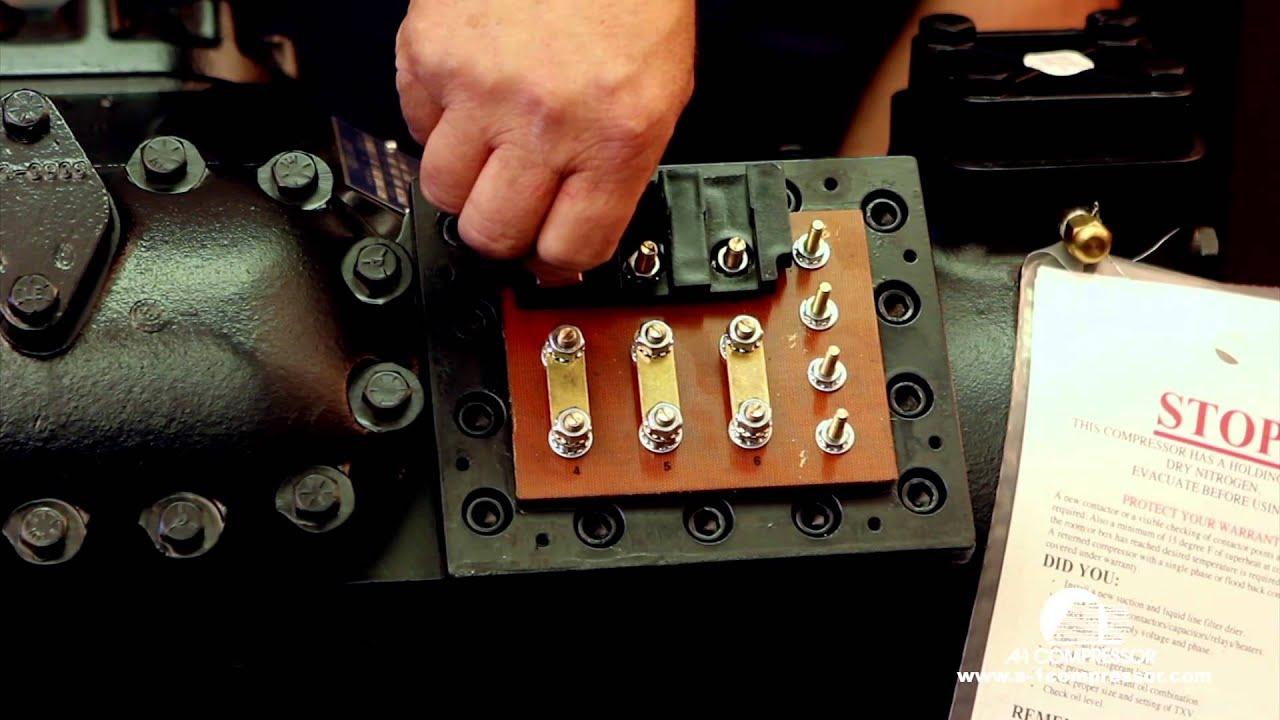 Wiring A Copeland 9 Lead 460 Volt Compressor Youtube Diagram