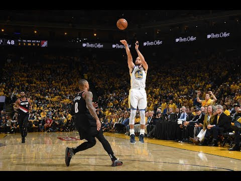 Steph Curry Makes 9 Three-Pointers vs. Portland Trail Blazers in WCF Game 1