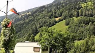 Camping Lindlerhof, Nationalpark Hohe Tauern, Mörtschach (Kärnten), Österreich. Summer 2012