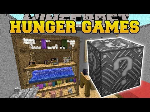 Minecraft: GIANT ROOM HUNGER GAMES - Lucky...
