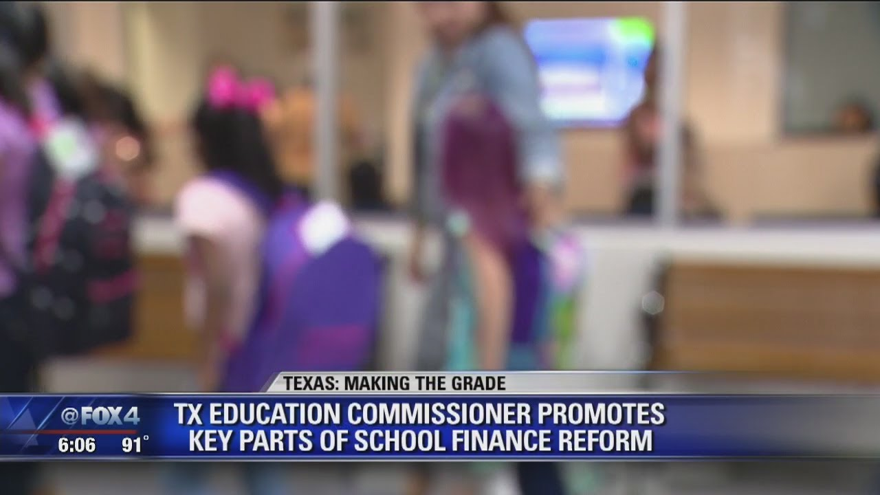 Texas Education Agency Commissioner Mike Morath promotes key parts of school finance reform