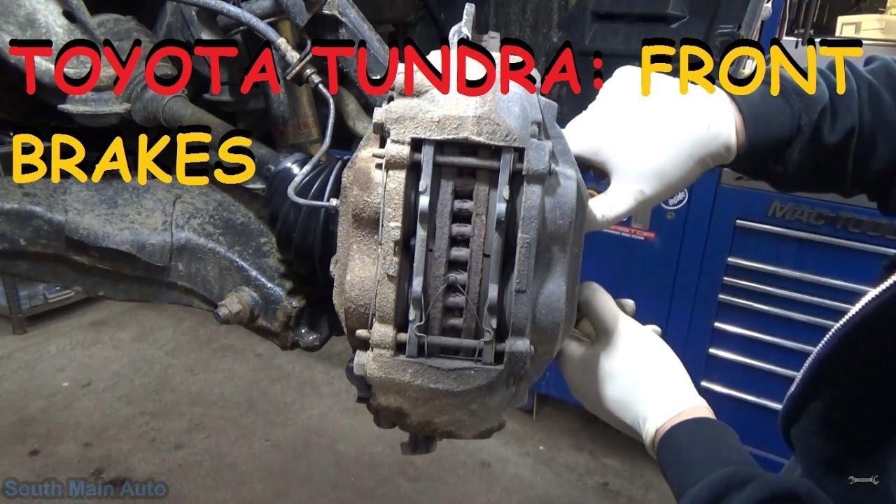 Tundra 1794 Edition >> Toyota Tundra - Front Brakes - YouTube