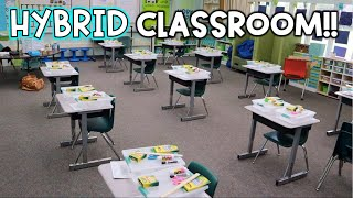 HYBRID Classroom Setup! - We're going back!!!!