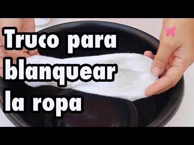 Cómo blanquear la ropa blanca y quitar manchas difíciles