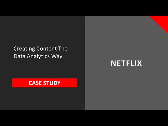 Analytics for Beginners Teaser   How Netflix uses Data Analytics to Launch a new TV Series  - YouTube