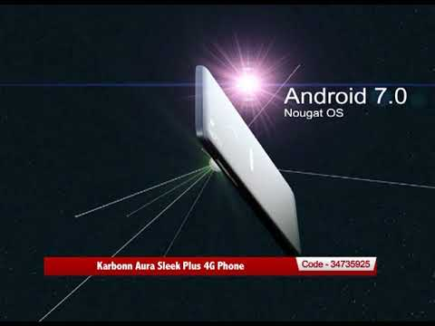 Karbonn 5 inch Mobile with 2 GB Ram 16 GB Memory & Finger Print Scanner