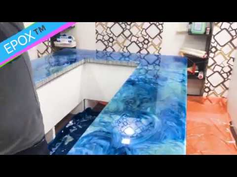 Incroyable How To Make Epoxy Resin Countertop Table Top DIY