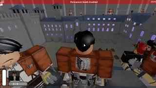 Roblox AOT:U | Battle of Trost Permanent Death Part 2