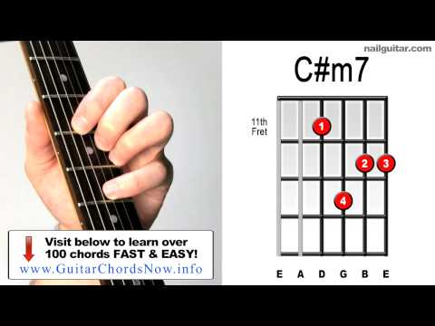 ♫♬ C#m7 Electric Chords - Essential How To Play Guitar Skills
