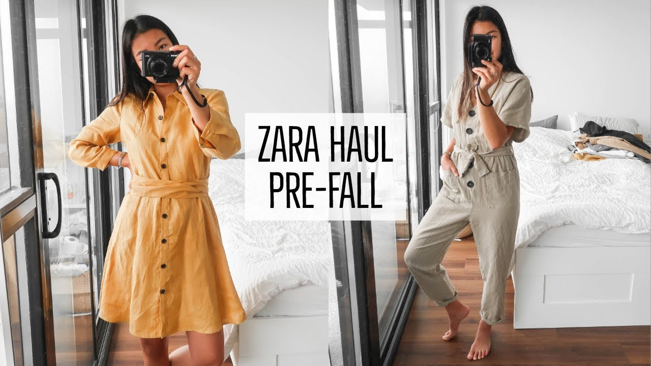 18aa91463d19 ZARA PRE-FALL CLOTHING HAUL || TRY-ON - YouTube