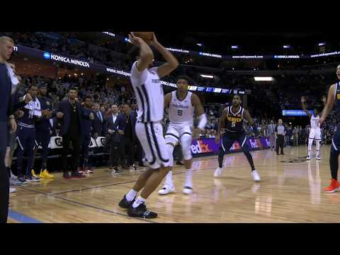 Kyle Anderson steps out of bounds on game winning shot - Denver Nuggets vs Memphis Grizzlies