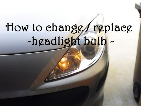 TUTO - How To Change / Replace An Headlight Bulb - Peugeot 307 -