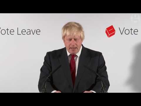 Boris Johnson on EU referendum result: no need for haste – video