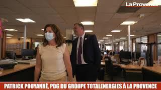 Le PDG de TotalEnergies, Patrick Pouyanné, en visite à La Provence