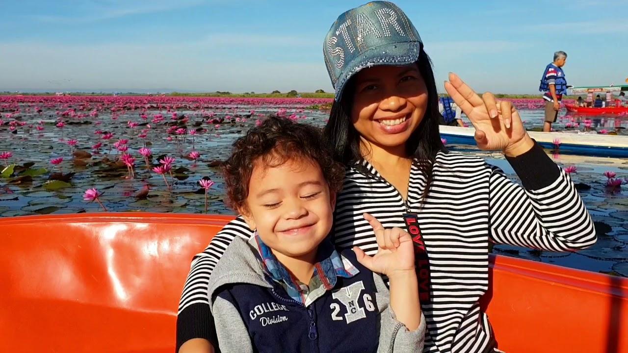 เที่ยวทะเลบัวแดง Red Lotus Sea Lake Udonthani Thailand