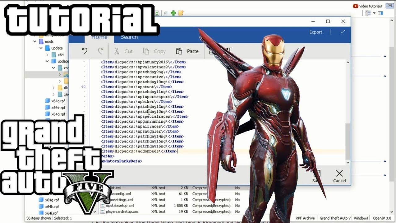 Iron Man Mark50 TUTORIAL (GTA5 MODS)
