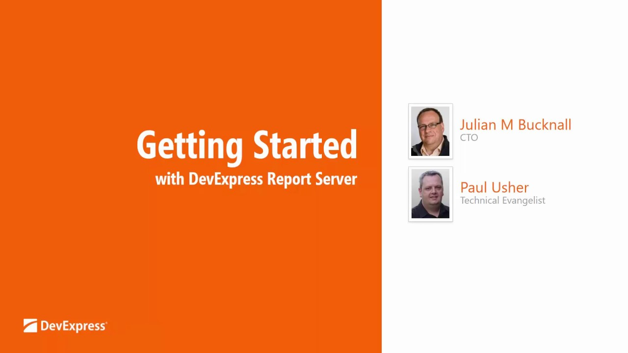 Get Started with the DevExpress Report Server