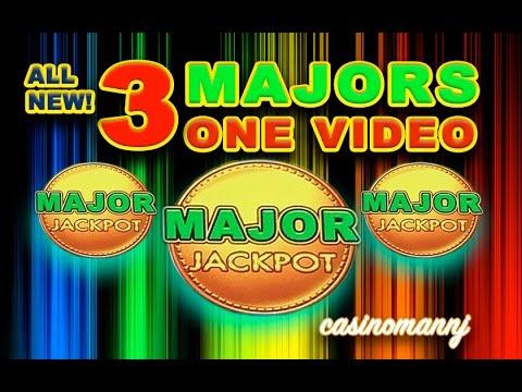 NEW! *SUPER HUGE TOTAL OF SLOT WINS* 3 MAJORS   ONE VIDEO -  Slot Machine Bonus