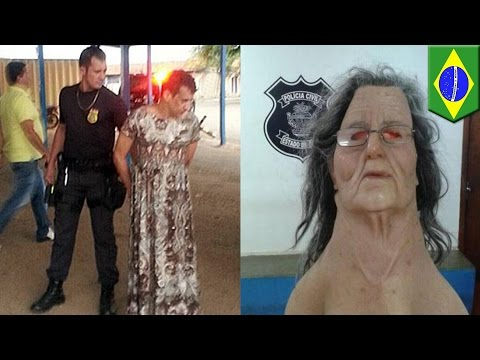 Prison break fail: Brazilian inmate tries prison break dressed as old lady, gets busted - TomoNews