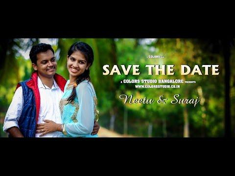 SAVE THE DATE -  NEETU  + SURAJ  - TUMKUR - BANGALORE