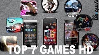 TOP 7 Games HD Nokia Symabian!