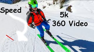 Skiing in 360 - Live Run Stats! 5k with the Insta 360