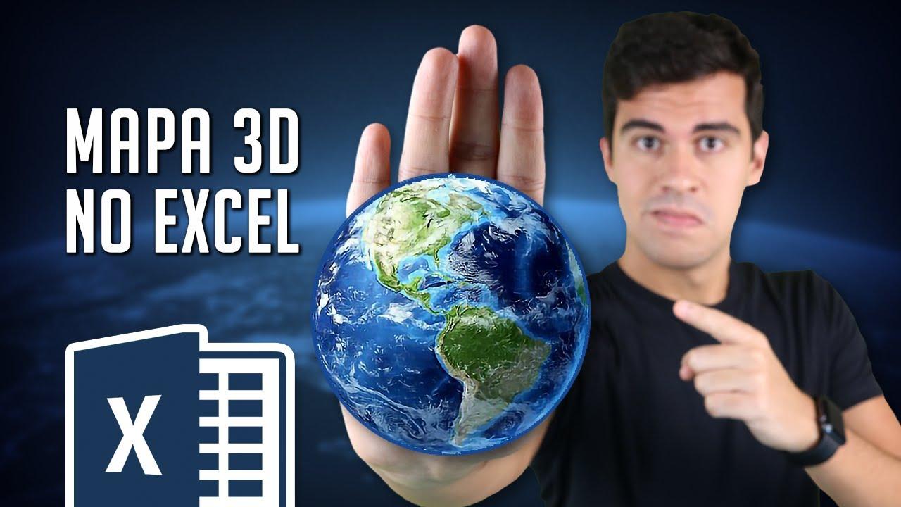 Impressione com um Gráfico de Mapa 3D no Excel