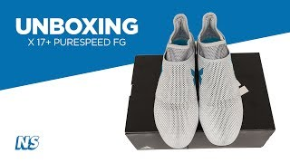 Adidas men's x 17+ purespeed firm ground soccer cleats dust storm unboxing