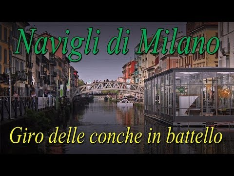 Navigli di Milano navigazione in battello