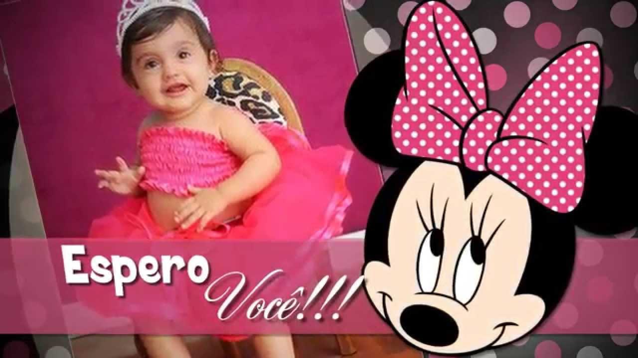 Convite Animado Minnie Rosa Yasmin 1 Aninho Youtube