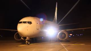 Primera Air B737 800 OY PSE Startup and Taxi at Pori Airport Finland 19.10.2013
