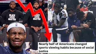 Fans REJECT Woke Sports! | Social Justice In Sports Changed Half Of Americans Viewing Habits