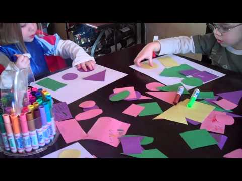 Pre-school Activity- Making Pictures Using Shapes