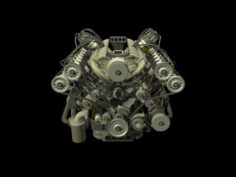W16 Engine Animation