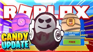 ROBLOX ICE CREAM SIMULATOR [Candy Cane Codes]: CANDY UPDATE GIVES US THE OREO PET?!