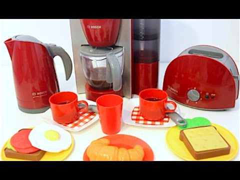 Marvelous Home Kitchen Appliance Set Playset Toaster Coffee Maker Cooking Breakfast  Play Doh Food!