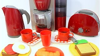 Home Kitchen Appliance Set Playset  Toaster Coffee Maker Cooking Breakfast Play Doh Food!