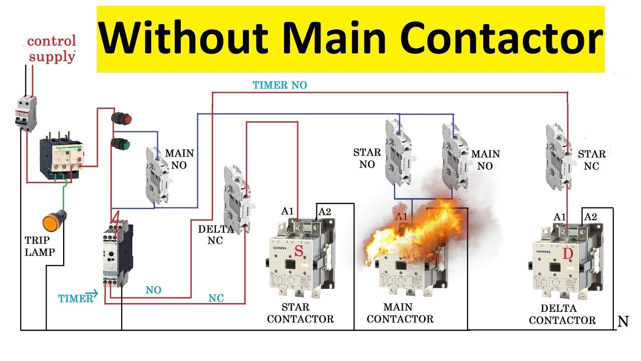 star delta starter control circuit [ 1280 x 720 Pixel ]